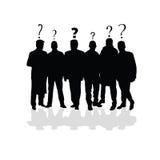 Man group black vector Stock Photo