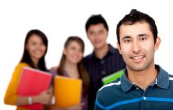 Man with a group of students Royalty Free Stock Photo