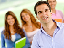 Man with a group of students Royalty Free Stock Images