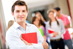 Man with group of students Stock Photos