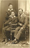 Man Group Taking Picture in Studio Romania Vintage Royalty Free Stock Images