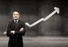 Man growth chart Stock Images