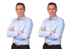 Man with Grumpy Unhappy Expression Royalty Free Stock Photography