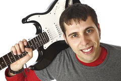 Man and guitar Royalty Free Stock Photos