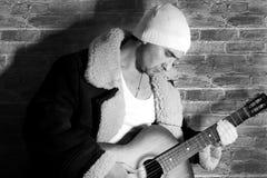Man and guitar Stock Image