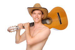 Man with guitar Royalty Free Stock Photos