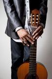 Man and Guitar Stock Photos