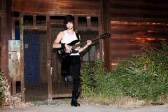 Man and guitar Stock Photography