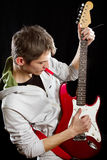 Man With The Guitar Stock Image
