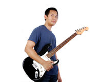 Man with guitar Stock Image
