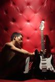 Man and guitar Royalty Free Stock Photo