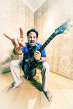 Man with a guitar . Stock Photography