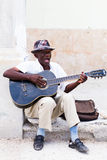 Man with guitar Havana Stock Photos