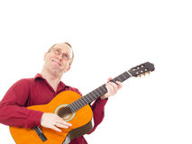 Man playing guitar Royalty Free Stock Image