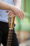 Man with guitar Royalty Free Stock Images