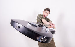 Man with guitar Royalty Free Stock Image