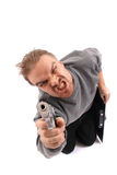 Man and gun Stock Photos