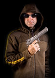 Man with gun Royalty Free Stock Photography