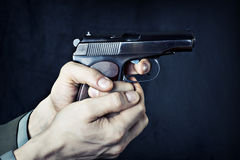 Man with gun. Stock Photography