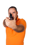 Man with a gun Stock Images