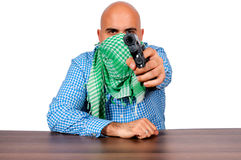 Man and gun Royalty Free Stock Photo