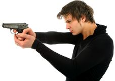 Man with a gun Royalty Free Stock Images