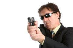 Man with a gun royalty free stock photos