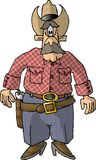 Man with a gun. This illustration that I created depicts a cowboy with a gun in a holster Royalty Free Stock Image