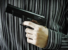 MAN WITH THE GUN Stock Photography