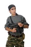 Man with gun. Stock Photos