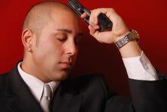 Man with gun. Stock Image