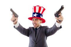 Man with gun Stock Image