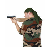 Man and gun Royalty Free Stock Images