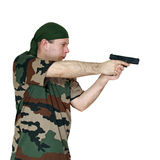 Man and gun Stock Photo
