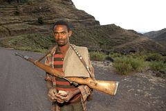 A man with a gun, Ethiopia Royalty Free Stock Photos