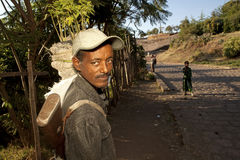 Man with a gun, Ethiopia Stock Photo
