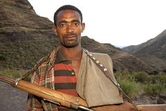 A man with a gun, Ethiopia Stock Photos