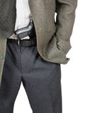 Man with a gun in his belt Stock Photography