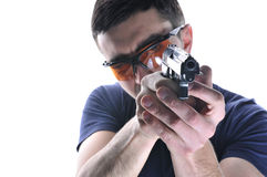 Man with gun in his hand Royalty Free Stock Images