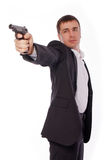 A man with a gun in his hand Royalty Free Stock Photography