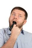 Man with gun in his mouth Royalty Free Stock Image