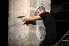 Man with a gun Royalty Free Stock Photo