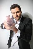 Man with a gun, Royalty Free Stock Photo