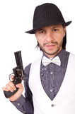 Man with gun isolated Royalty Free Stock Image