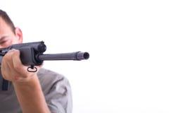 Man with a gun Stock Photography