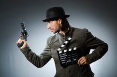 Man with gun Royalty Free Stock Image