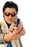 Man with gun portrait Stock Photos