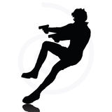 Man with a gun Royalty Free Stock Image