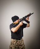 Man with gun Royalty Free Stock Image