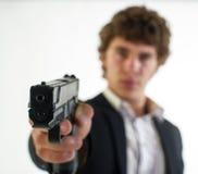 Man with the gun Stock Photos